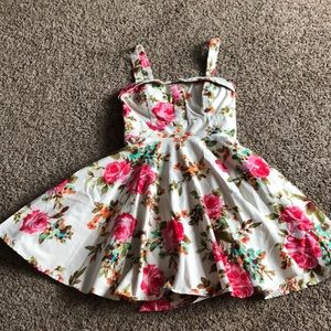 Pink flower dress from Frans